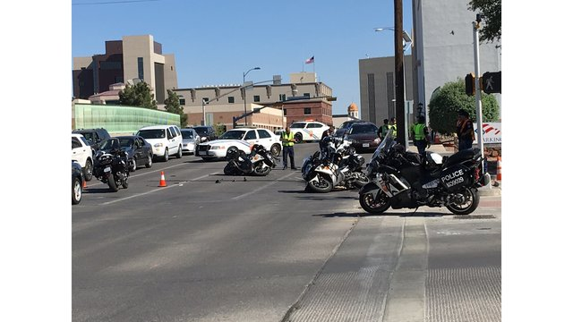 Two EPPD motorcycles involved in Downtown crash