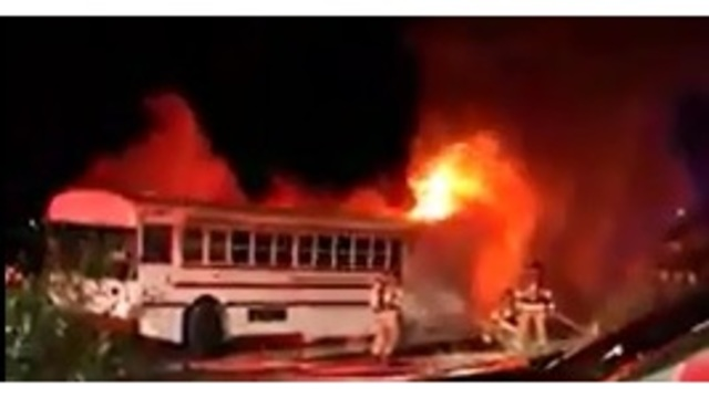 Las Cruces fire destroys bus just purchased at auction