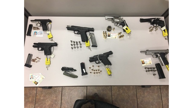 Bandidos arrested on weapons charges Thursday night
