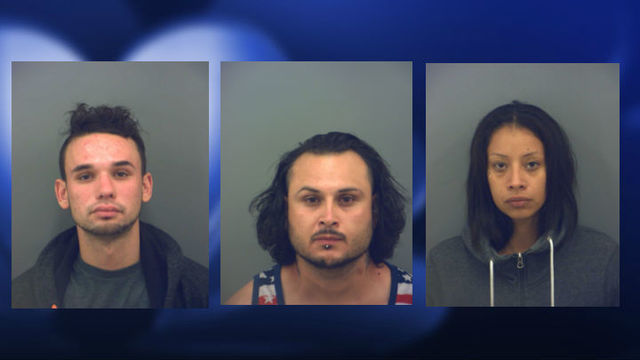Three arrested for Possession of Controlled Substance