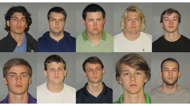 Ten LSU students charged in fraternity hazing death