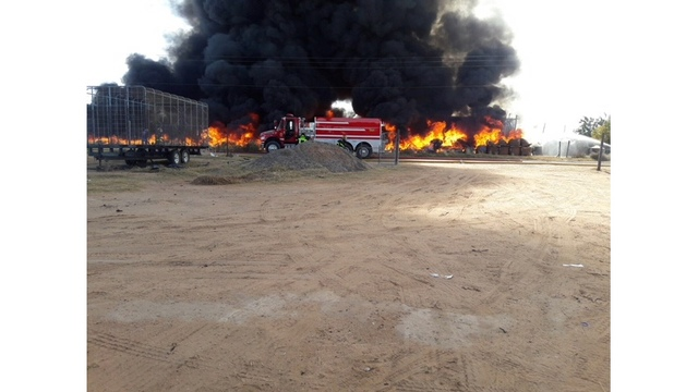 Crews respond to fire at Otero County recycling center