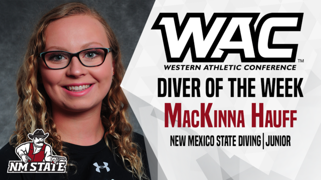 Aggie Diver Earns WAC Weekly Honors