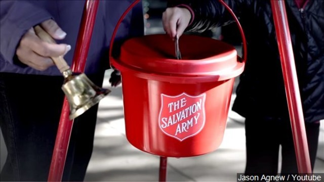Police investigate stolen Salvation Army Red Kettle