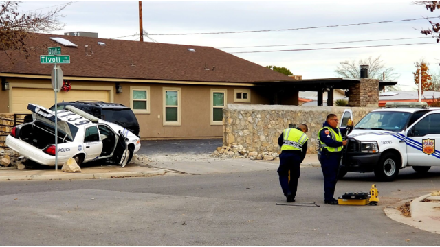 Two officers hospitalized after crash in Northeast El Paso