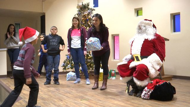 Santa comes early for kids living at El Paso shelter