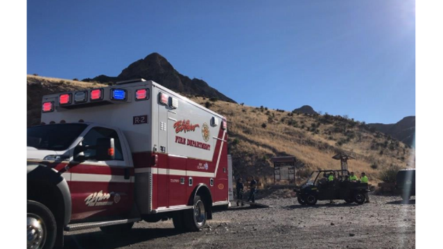 Crews respond to hiker hit by rock in mountains