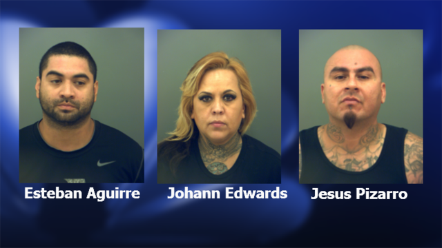Trio charged with drug possession after traffic stop in Montana Vista
