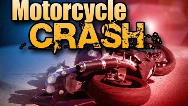 Motorcycle crash leaves one person with life-threatening injuries